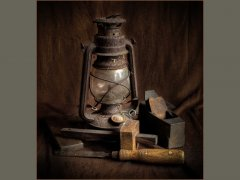 Ken Barrett-Old lamp and Tools-Highly Commended.jpg